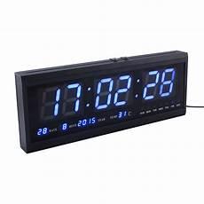 elektrisch led wanduhr digital display mit zeit datum