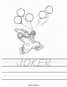 joker worksheet d nealian twisty noodle