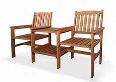 Gartenbank 2 Sitzer Holz - gartenbank tete a tete 2 sitzer bank mit tisch