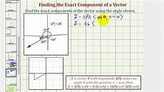 ex 1 find a vector in component form given an angle and the magnitude 30 youtube