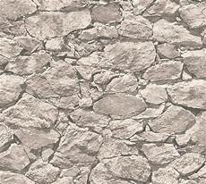 naturstein tapete vlies tapete steinoptik naturstein mauer grau as creation