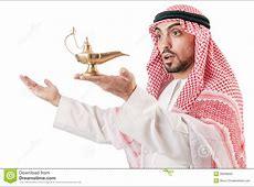 Arab man with lamp stock photo. Image of arab, bohra