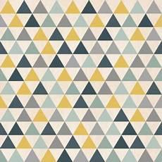 Papier Peint Triangles Bleu Jaune Et Gris Graphique