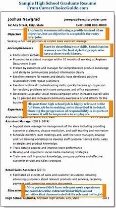 high school graduate resume exle