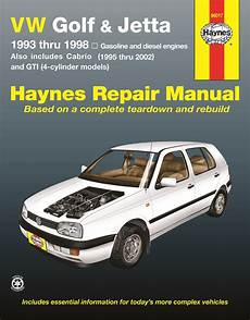 online car repair manuals free 2001 volkswagen rio electronic throttle control vw golf gti jetta haynes repair manual for 1993 thru 1998 and vw cabrio 1995 thru 2002 with