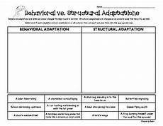 animal behavior worksheets high school 13807 behavioral vs structural adaptations sorting worksheet animal adaptations fourth grade