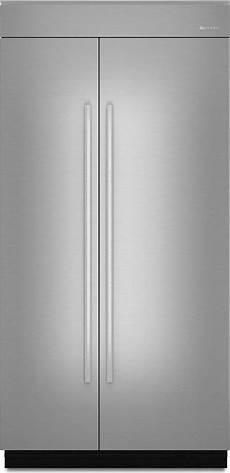 european side by side jpk42snxess jenn air stainless steel panels with