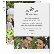carte remerciements mariage carte