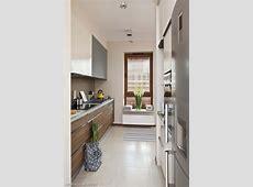 D?uga kuchnia w bloku w nowoczesnej aran?acji   Kitchen