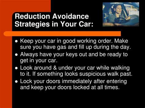 Avoidance Strategy