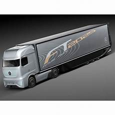 mercedes ft 2025 future truck with trailer 3d high quality 3d vehicles