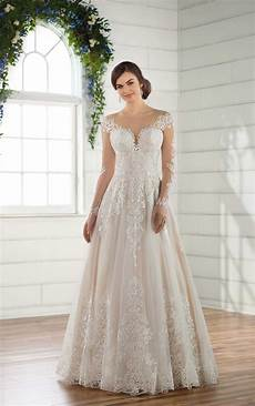 decadent lace sleeved wedding dress essense of australia