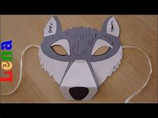 Wolf Maske Basteln Mit Lena How To Make Wolf Mask как