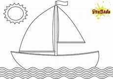 ausmalbild segelboot kostenlose malvorlage