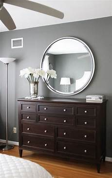 paint color amherst grey benjamin love the gray walls with dark brown furniture home