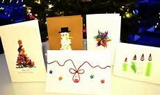 diy weihnachtskarten basteln vier tolle einfache und
