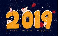 happy chinese new year 2019 year of earth pig hd wallpaper