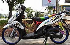 Mio J Modif Simple by Modifikasi Yamaha Mio J Putih Simple Desain Motorcycle