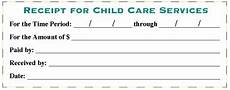 receipt for child care services child care services