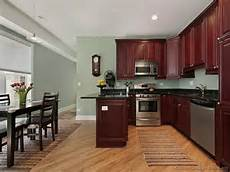 Decorating Ideas Cherry Cabinets by Top 40 Kitchen Wall Colors With Cherry Cabinets For