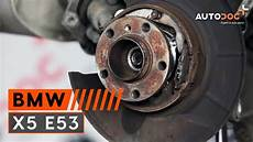 how to replace a rear wheel bearing on bmw x5 e53 tutorial