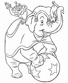circus elephant coloring pages ideas to