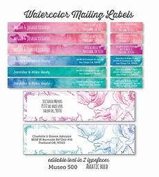 printable address labels in a watercolor and floral design free printable labels templates