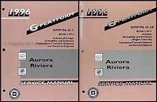 service and repair manuals 1996 oldsmobile achieva lane departure warning 1996 aurora riviera shop manual set 96 repair service book olds oldsmobile buick ebay