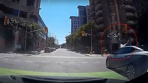 Cyclist Smashed By Oncoming Vehicle After Running Red