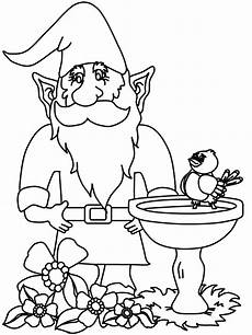 gnome coloring pages coloring home