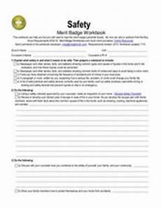 safety merit badge worksheet for 5th 12th grade lesson planet