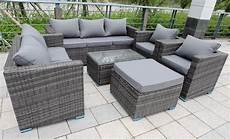8 seater new rattan garden furniture set sofa table chairs