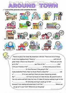 town worksheets 18489 around town worksheet free esl printable worksheets made by teachers