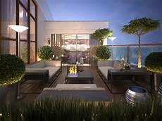 tetto terrazzo tetto terrazzo in uno stile moderno illustrazione di