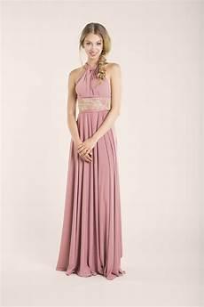 quartz backless dress powder pink bridesmaid