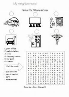 places in my neighbourhood worksheets 16015 worksheets my neighbourhood