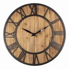60cm Large Wall Clock Vintage Design Wrought Metal