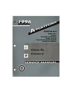 car manuals free online 1996 buick century electronic toll collection 1996 oldsmobile cutlass ciera ciera sl cutlass cruiser buick century service manual 2