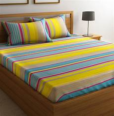 flipkart smartbuy cotton striped double bedsheet buy flipkart smartbuy cotton striped double