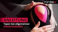 Schmerzen Unter Der Kniescheibe - kintex 174 anleitung zum kinesiologie tapen bei schmerzen