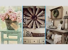 DIY Vintage & Rustic Shabby Chic Style Room Decor ideas