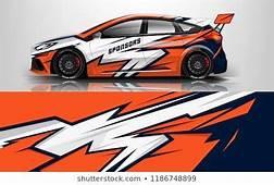 Design Race Vehicle Vector Advertising