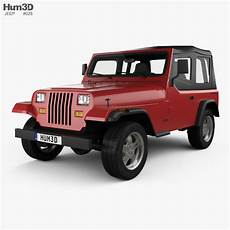 jeep wrangler yj 1987 3d model vehicles on hum3d
