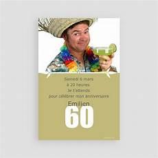 invitation anniversaire adulte 60 ans carteland