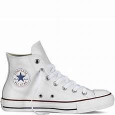 chuck all leather white white