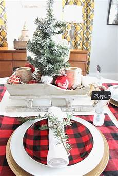 Buffalo Plaid Decorations by Buffalo Check Tablescape 2 Bees In A Pod
