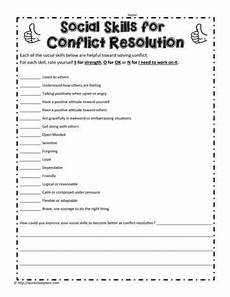 social skills for conflict conflict resolution social