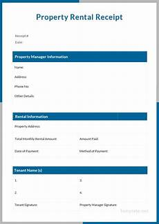 rental receipt template 39 free word excel pdf