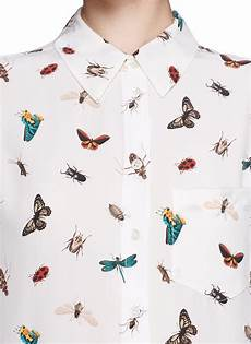 bug print blouse equipment reese insect print silk shirt lyst