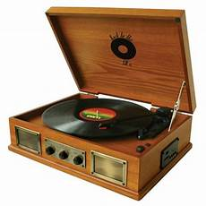 Vintage Vinyl Record Player Stereo Turntable by Back To The 50 S 3 Speed Wooden Turntable Vinyl Record
